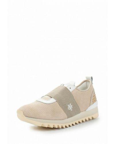 Бежевые замшевые кроссовки Marc O'polo