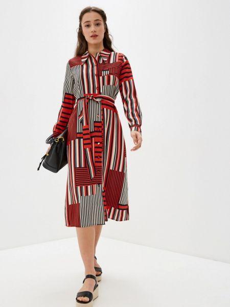 Платье платье-рубашка красный Selected Femme