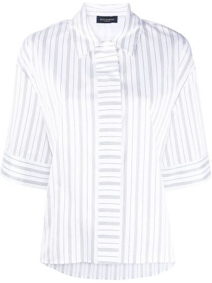 Klasyczna biała klasyczna koszula krótki rękaw Piazza Sempione