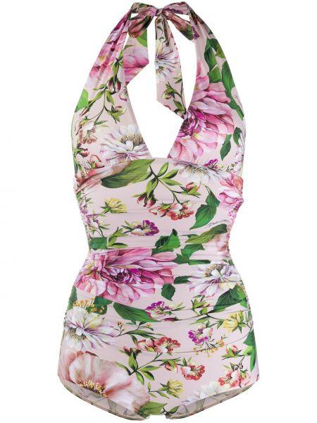 Пляжный купальник с шортами с оборками Dolce & Gabbana