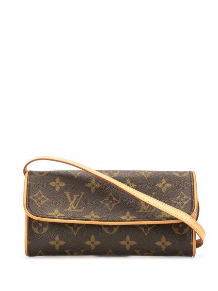 Skórzana torebka z nadrukiem rama Louis Vuitton Pre-owned
