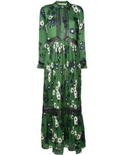 Платье платье-рубашка с цветочным принтом Self-portrait