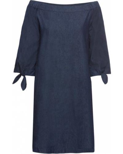 Джинсовое платье синее темно-синий Bonprix