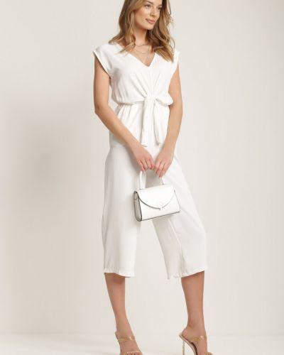 Biały kombinezon materiałowy Renee