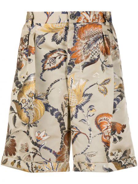 Бежевые короткие шорты с карманами из вискозы Christian Pellizzari