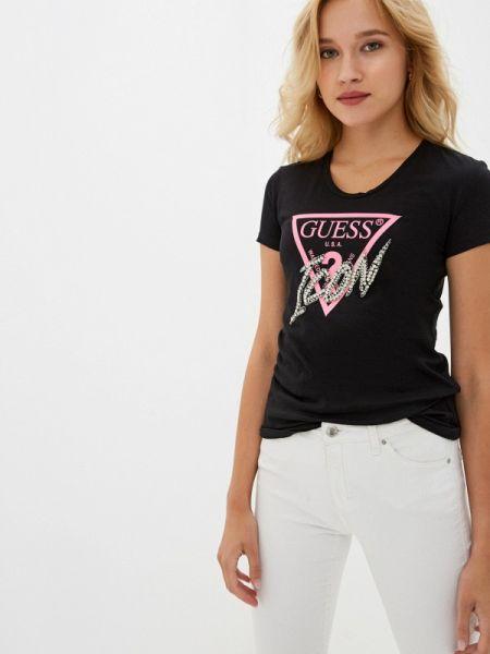Поло джинсовый черное Guess Jeans