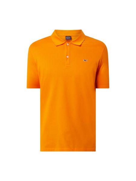 Pomarańczowy t-shirt bawełniany Paul & Shark