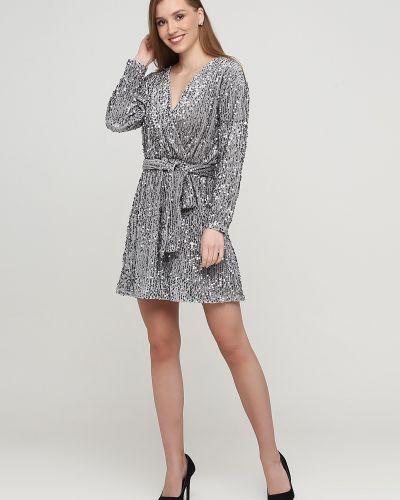 Платье с запахом - серебряное Imperial