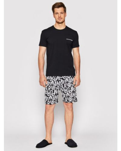 Czarna piżama Emporio Armani Underwear