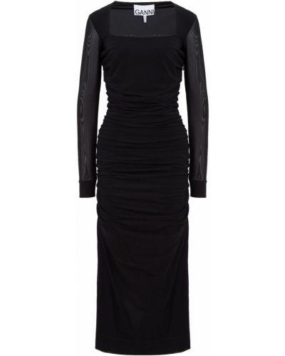 Черное платье Ganni
