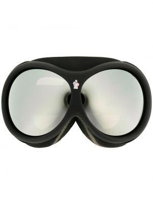Черные очки круглые Moncler Eyewear