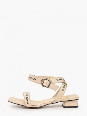 Бежевые кожаные сандалии Tuffoni