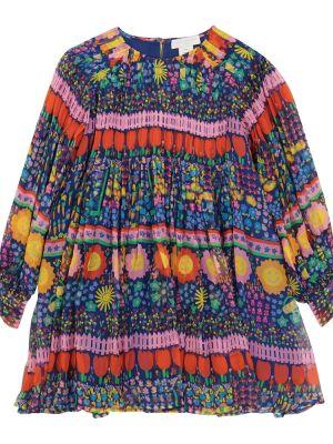 Шелковое платье - серое Stella Mccartney Kids