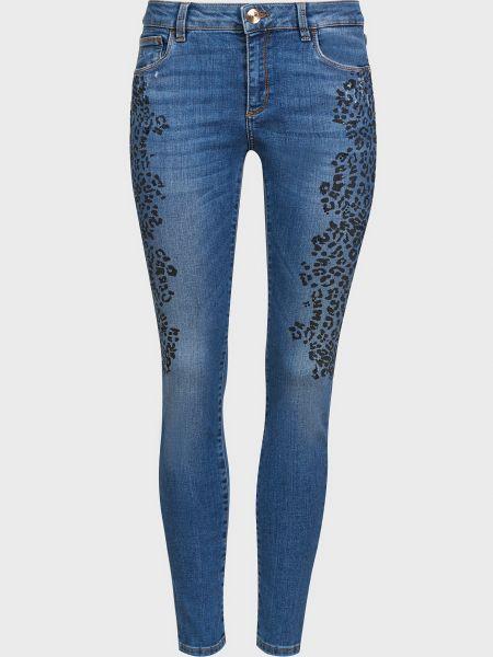 Джинсы на пуговицах - синие Trussardi Jeans
