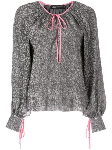 Шелковая блузка - серая Anna October