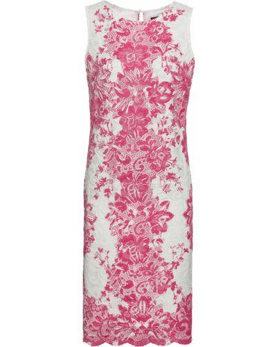 Облегающее платье с цветочным принтом ажурное Bonprix