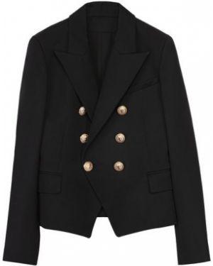 Шерстяной пиджак на пуговицах с подкладкой двубортный Balmain