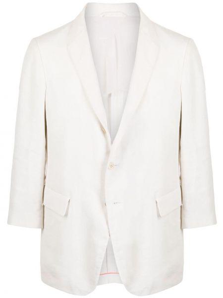 С рукавами белый однобортный пиджак на пуговицах Jil Sander Pre-owned