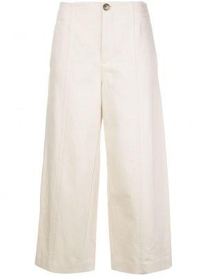 Укороченные брюки с завышенной талией свободные Vince.