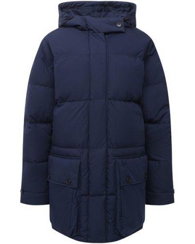 Пуховая синяя куртка с подкладкой Kenzo