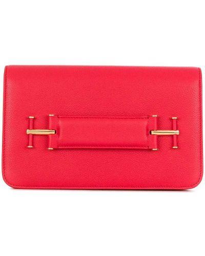 Красный клатч кожаный Tom Ford