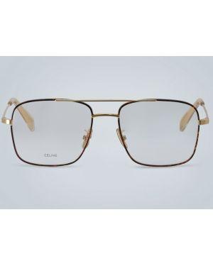 Оправа для очков металлические - золотые Celine Eyewear