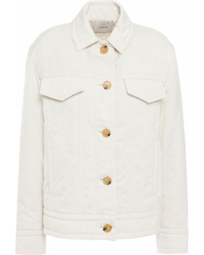 Белая куртка с карманами с манжетами Vince