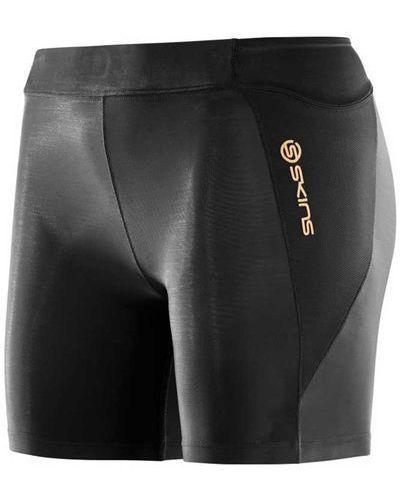 Спортивные брюки с запахом укороченные с мехом Skins