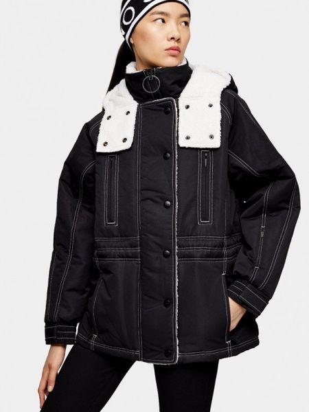 Горнолыжная куртка весенняя черная Topshop