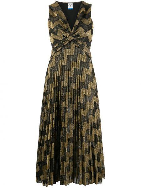 Черная юбка миди с вырезом из вискозы без рукавов M Missoni