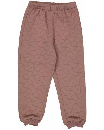 Różowe spodnie oversize Wheat