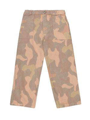 Brązowy bawełna bawełna spodnie Morley