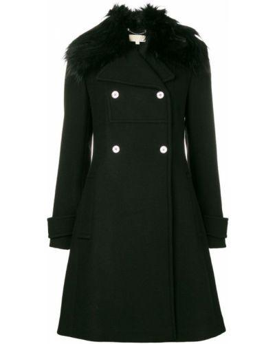 Черное пальто с капюшоном Michael Michael Kors