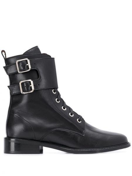 Ботинки на каблуке черные на шнуровке Ba&sh