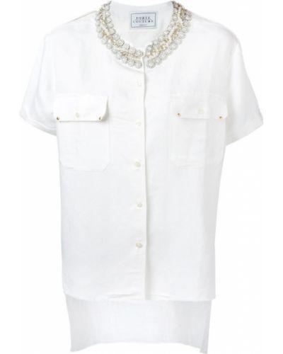 Белая рубашка из вискозы Forte Couture