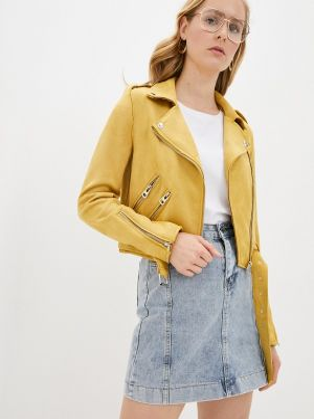 Кожаная куртка - желтая Shelter