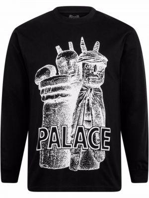 Czarna bluza z printem Palace