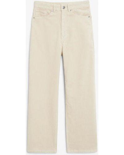 Белые брюки с карманами Monki