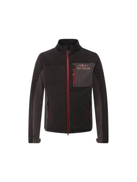 Текстильная серая куртка с вышивкой Harley Davidson