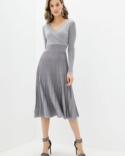 Серебряное вечернее платье Yumi
