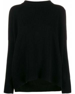 Черный свитер в рубчик Oyuna