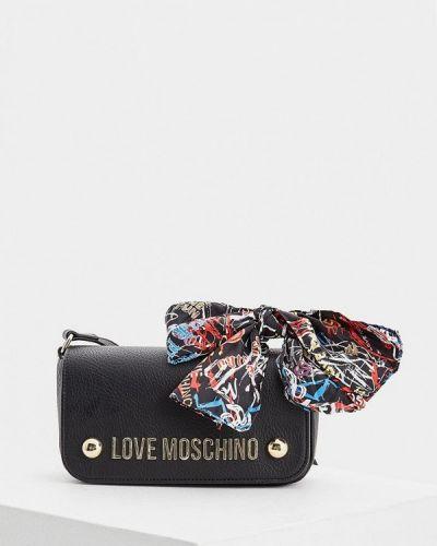Черная сумка через плечо Love Moschino