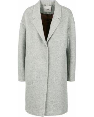 Пальто серое на кнопках Ichi