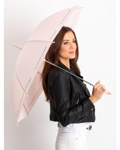 Różowy automatyczny parasol materiałowy Fashionhunters
