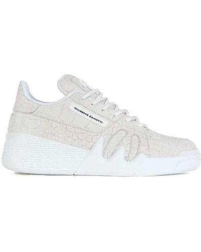 Białe sneakersy na co dzień z printem Giuseppe Zanotti