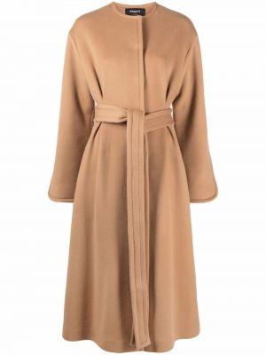 Шерстяное пальто - коричневое Rochas