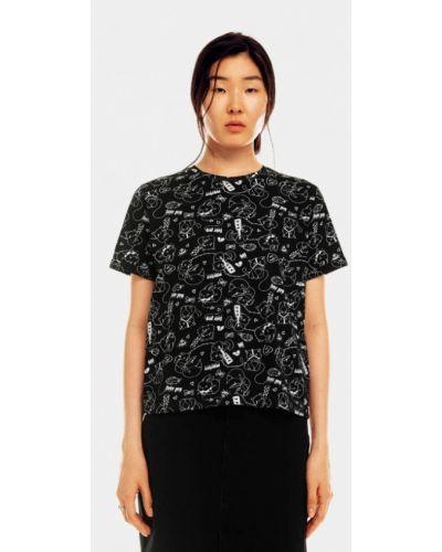 Черная футболка осенняя Befree