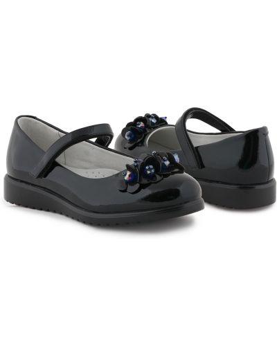 С ремешком черные туфли на танкетке на платформе из искусственной кожи Kdx