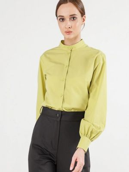 Рубашка с длинным рукавом зеленый Remix