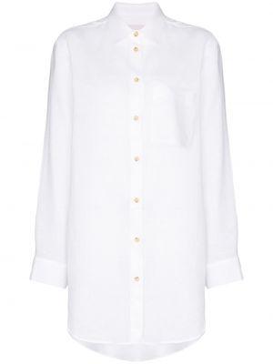 Biała koszula zapinane na guziki Asceno
